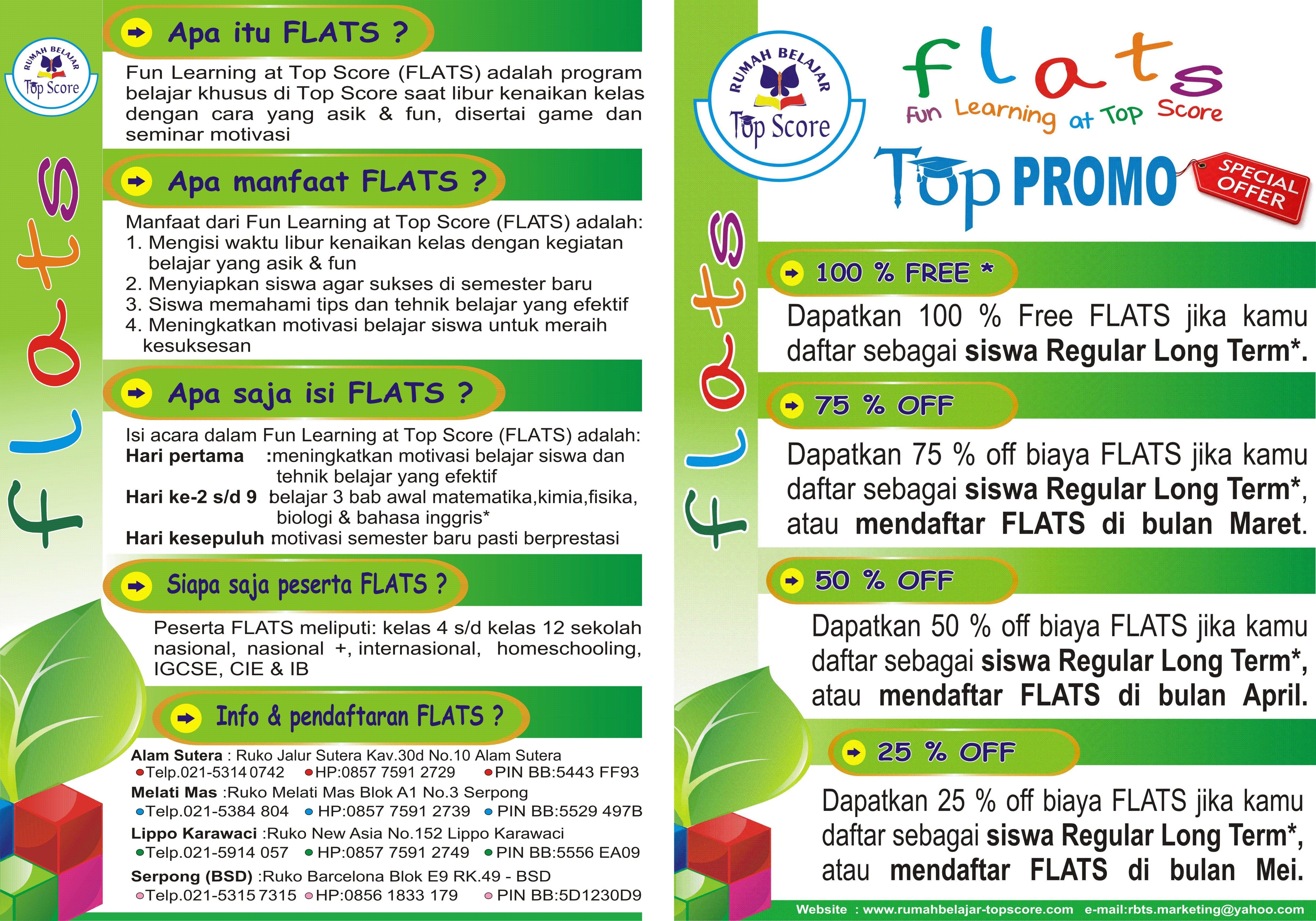 info flats 2016 all cabang